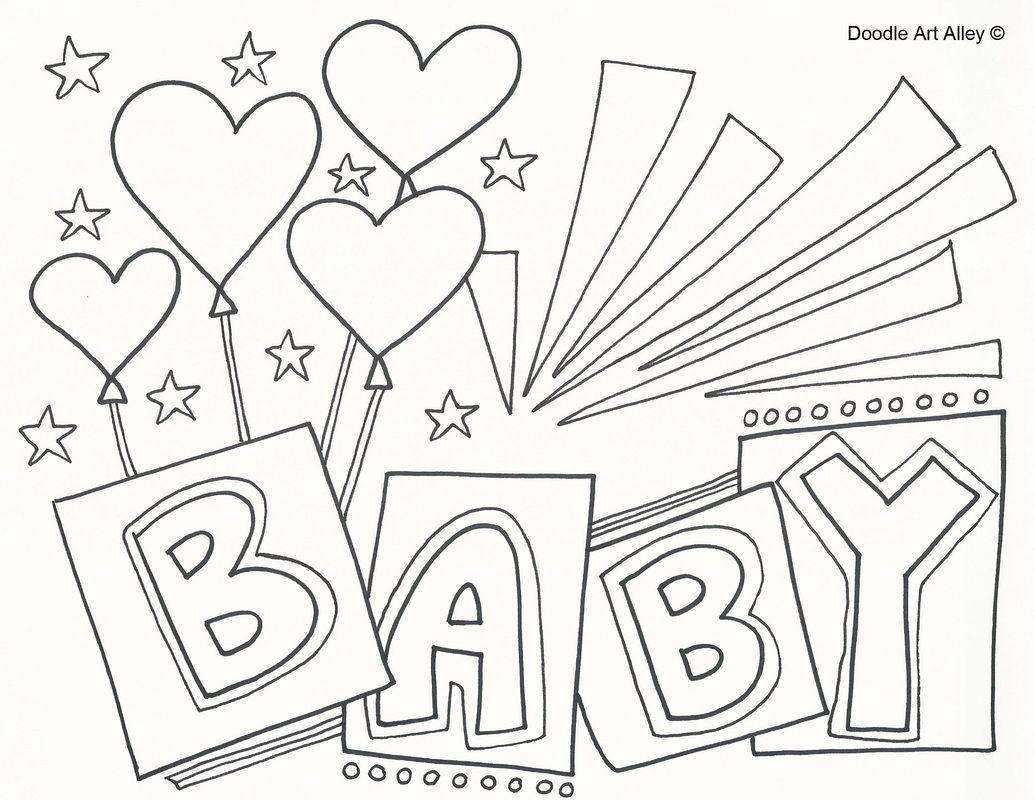 Congratulations Baby Coloring Page