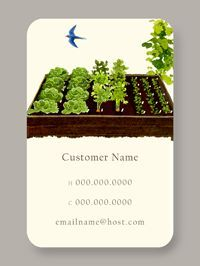 Raised Beds Calling Card / Business Card - what an amazing design! more...