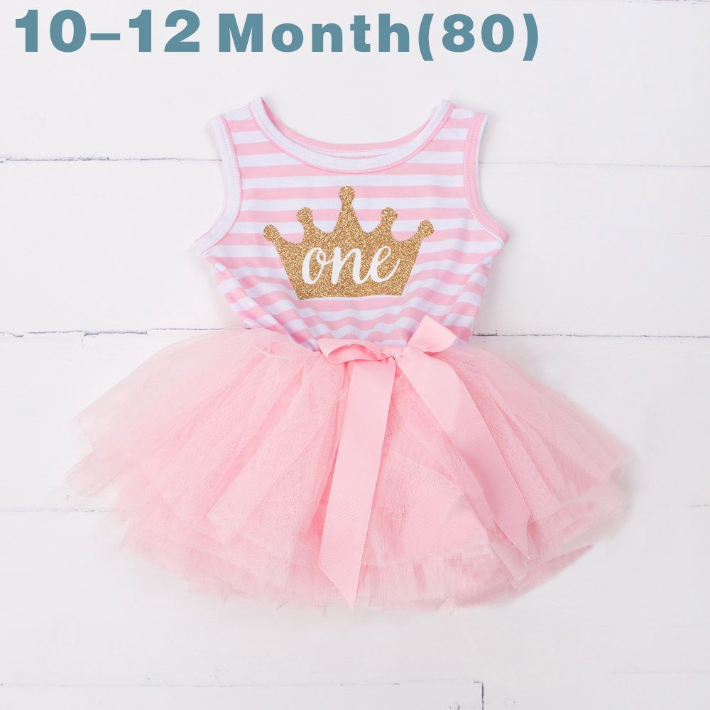 Summer Toddler Baby Dress First Communion Stripe Baptism Child Clothes 1  Year Birthday Baby Girls Dresses for Infant 0 2 year a6300c743a24