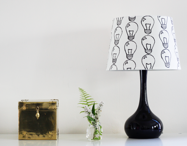 Stenciled Lampshade