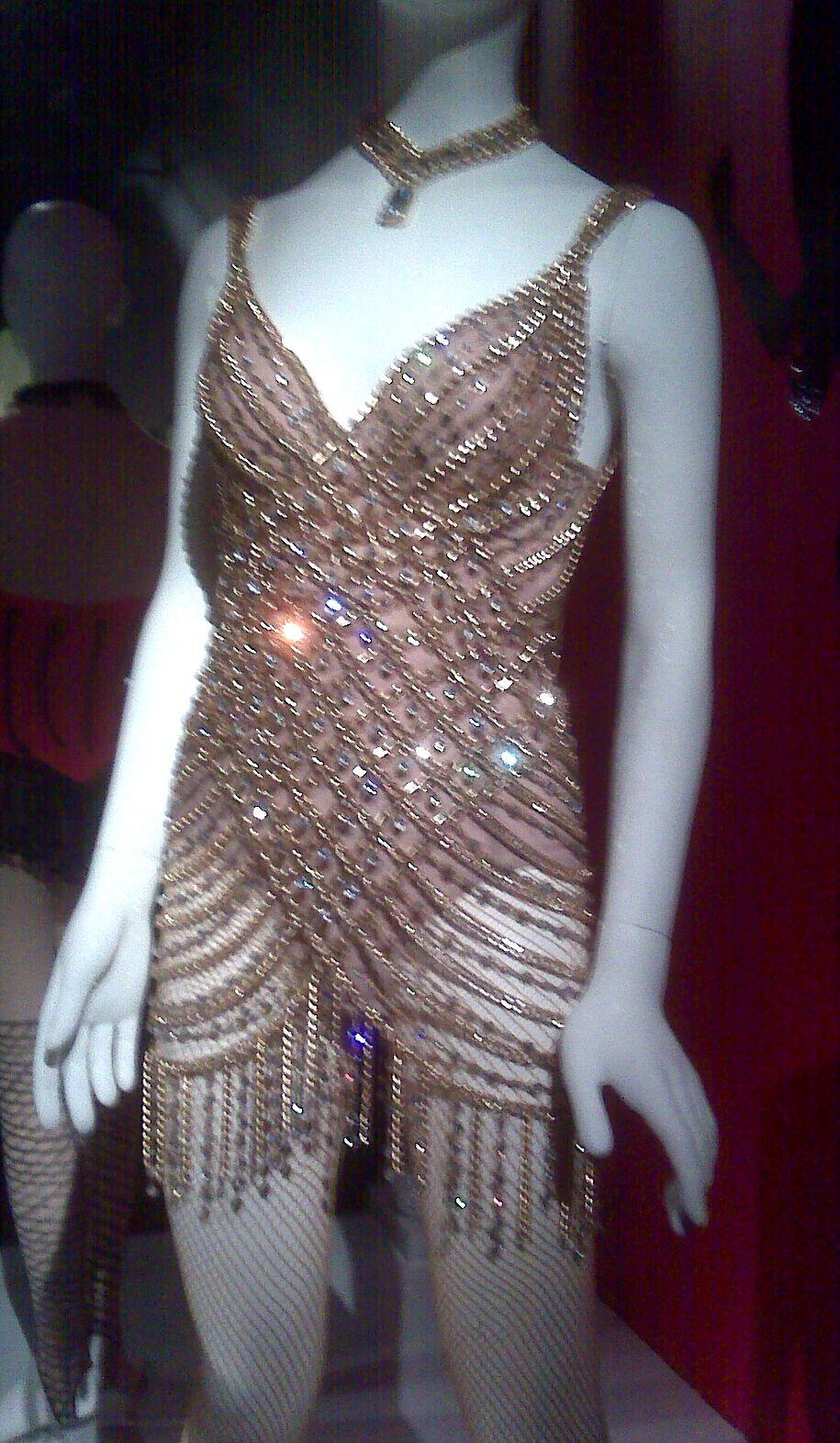 Christina Aguilera Sparkly Dress