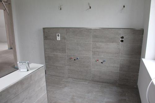 Ein haus für uns einrichtungs , garten und baublog! die fliesen - badezimmer fliesen grau