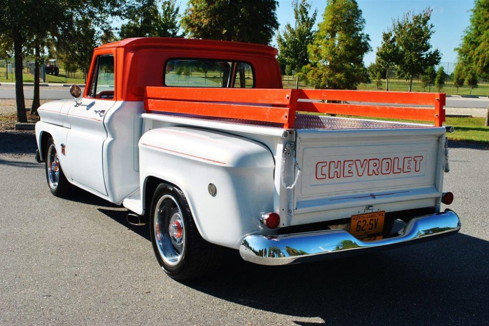 1964 chevy c10 stepside orange and white Google Search