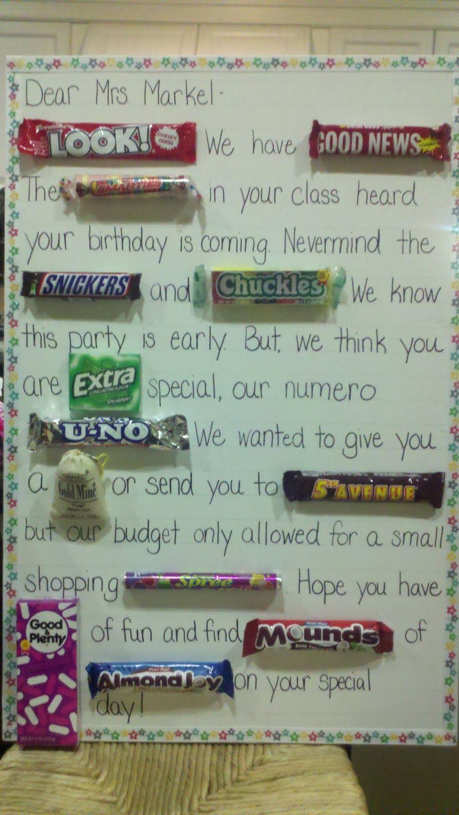 tutor tubs candy bar card  teacher gifts teacher