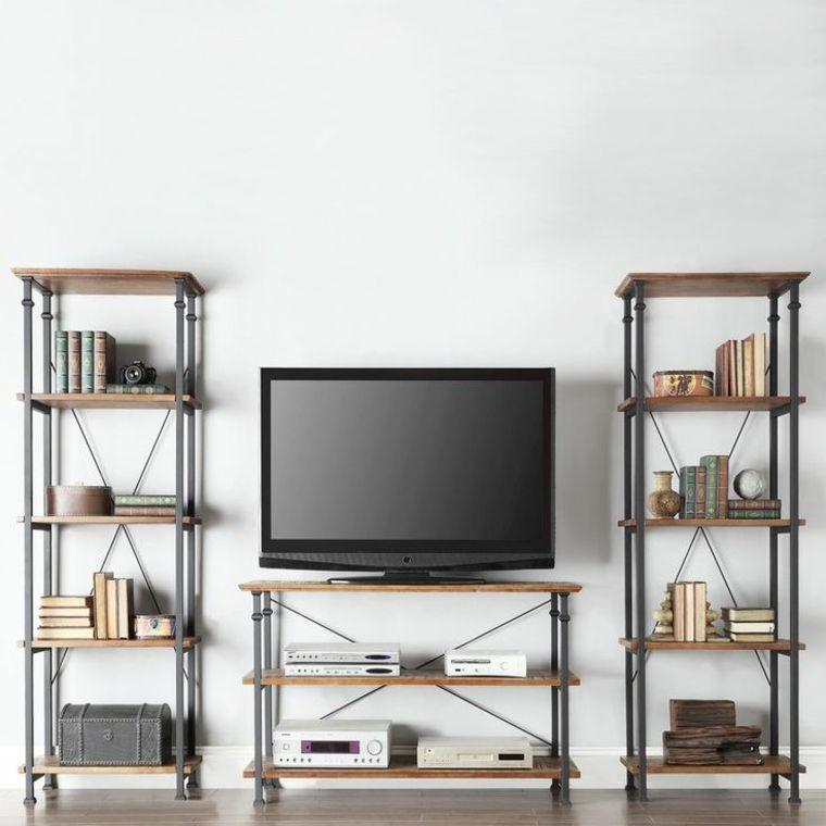 Mueble tv descubre estas ideas inspiradoras para la sala for Muebles industriales metal baratos