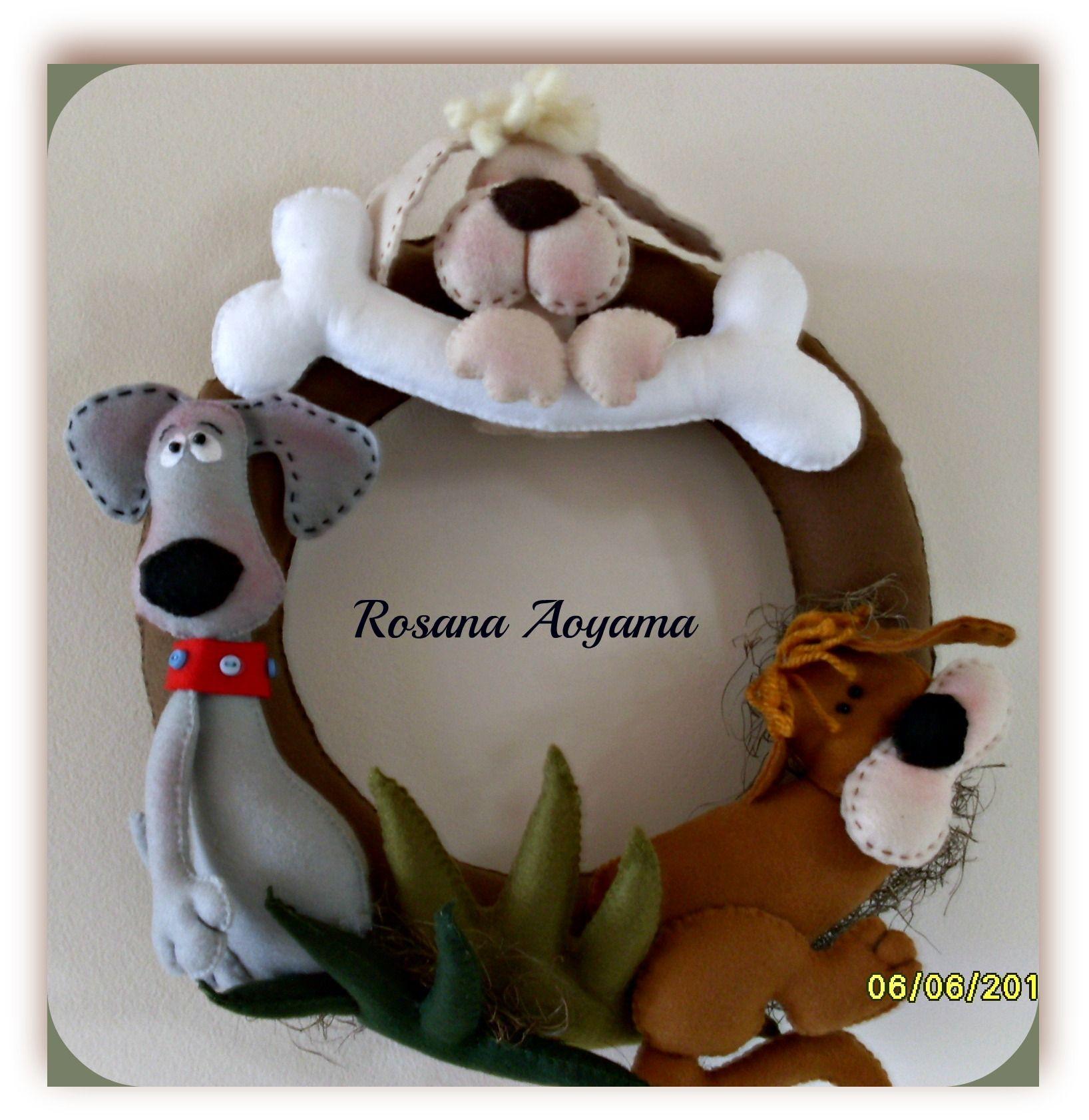 Guirlanda tema cachorro em feltro ideen pinterest for Weihnachtshirsch deko
