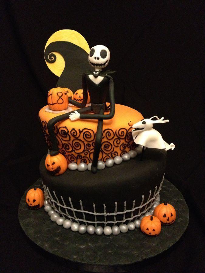 nightmare before christmas birthday cake baking Pinterest
