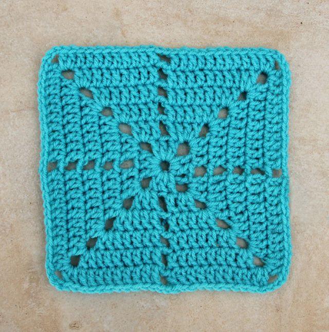 Simple starburst square pattern.