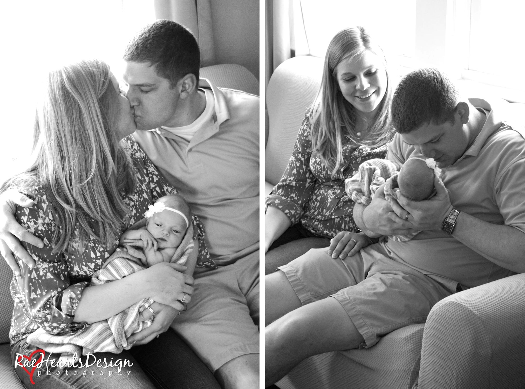 Newborn Photography session with Mom & Dad
