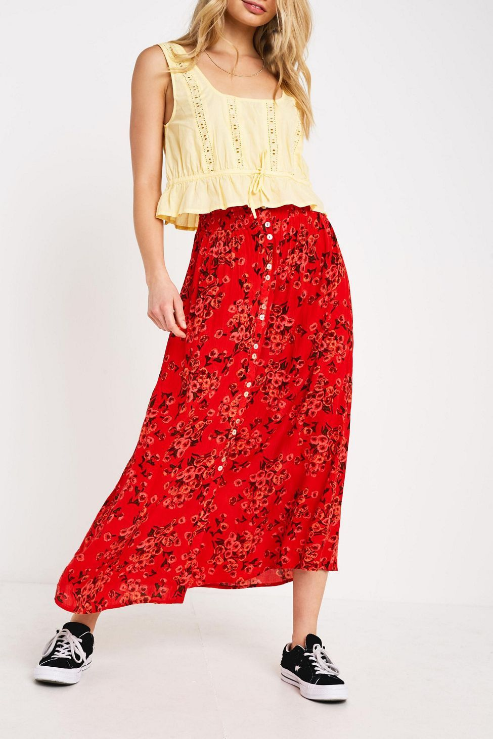 ca5911fe1 Weather Wear, Dressed To Kill, Midi Skirt, Urban Outfitters, Spring Fashion,