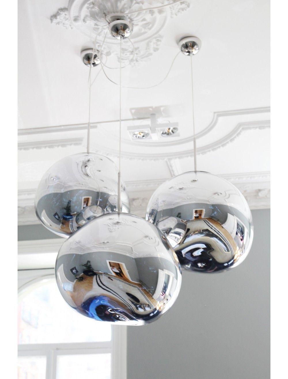 pre loved tom dixon melt pendant chrome int lighting dining room lighting lights dining room. Black Bedroom Furniture Sets. Home Design Ideas