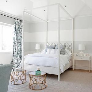 Asilah Bed, Transitional, bedroom, RT Abbott Construction #graystripedwalls