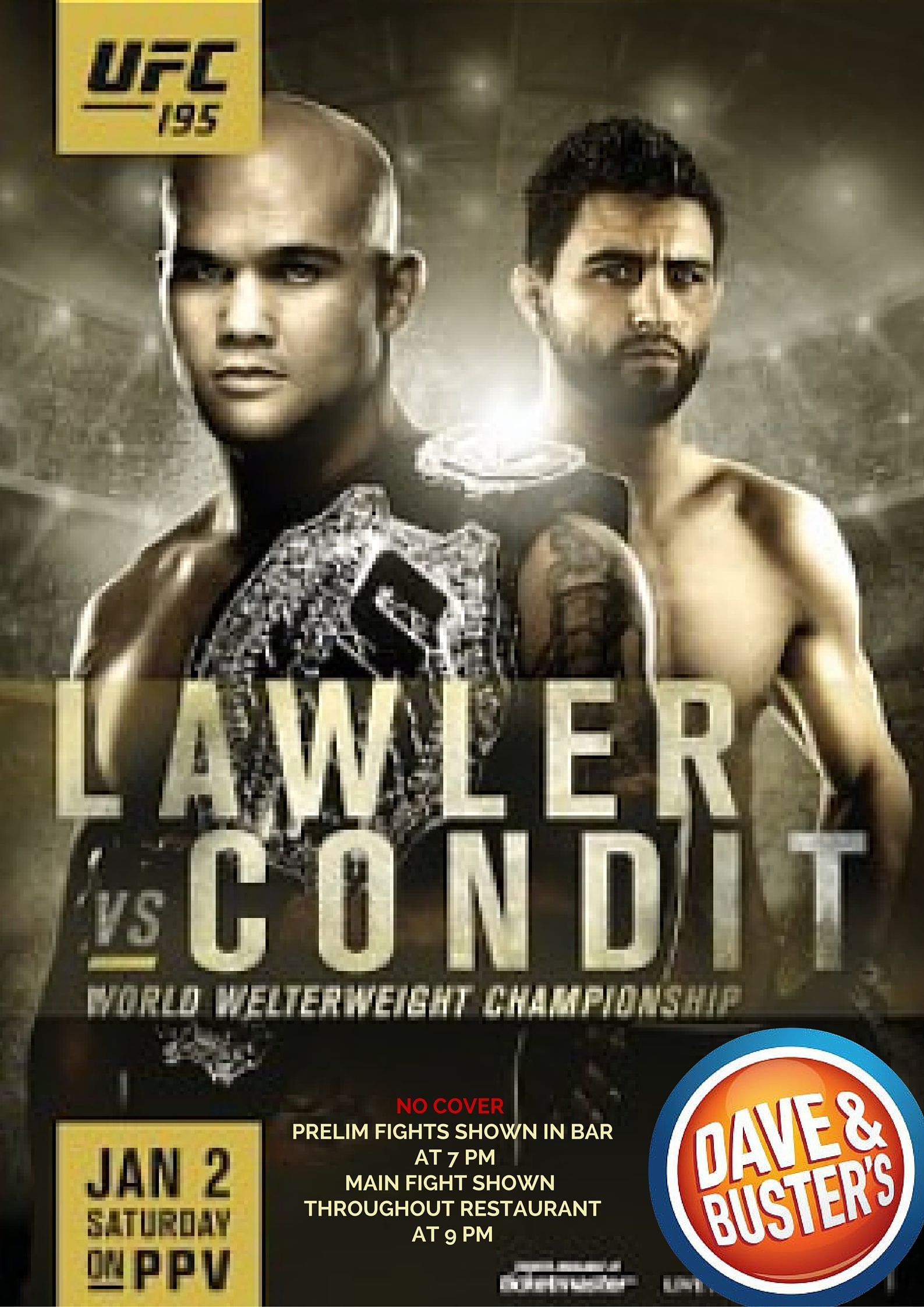 Dave Buster S Eat Drink Play Watch Sports All Under One Roof Ufc Ufc Poster Mma
