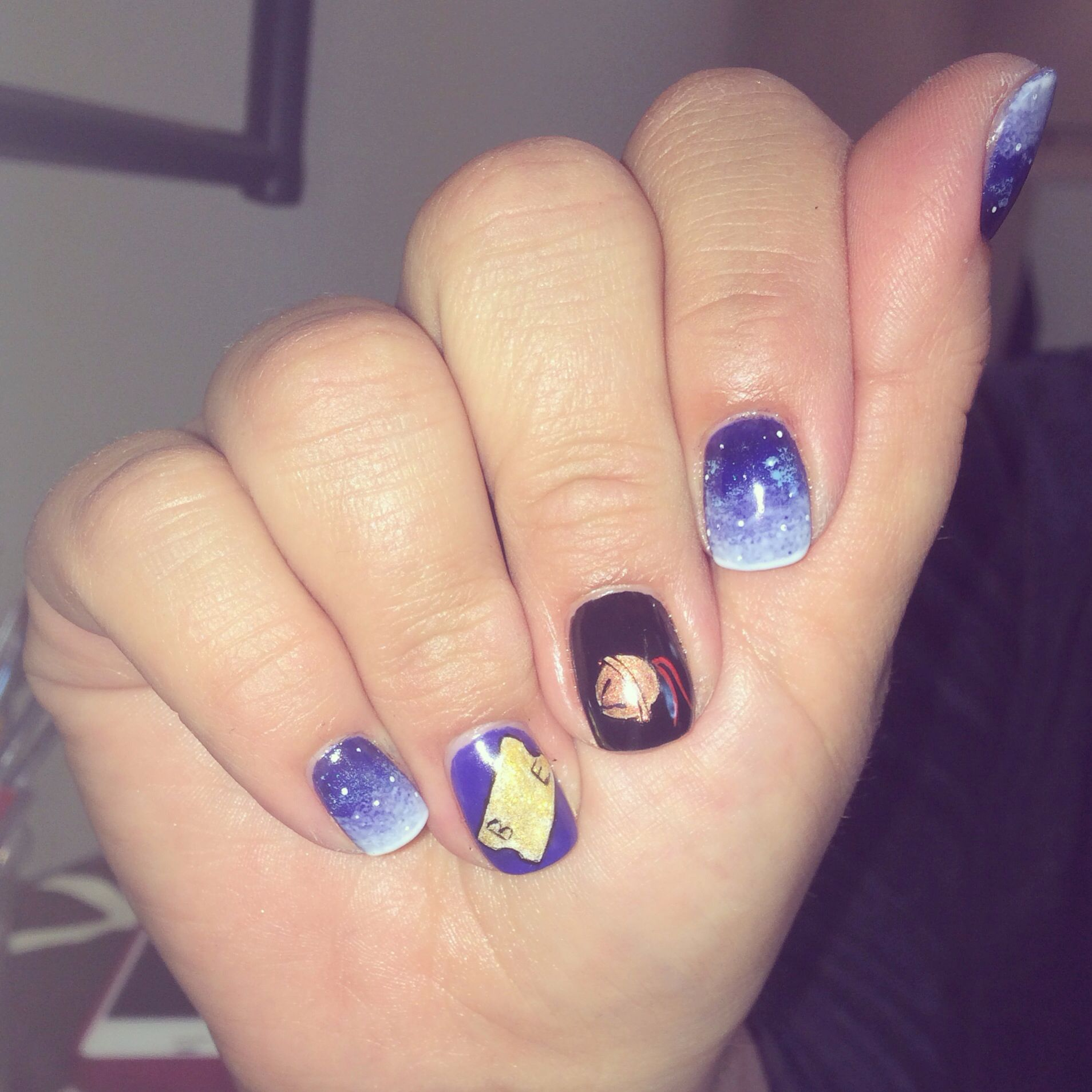 Polar Express nail art; winter; Christmas Instagram post by ...