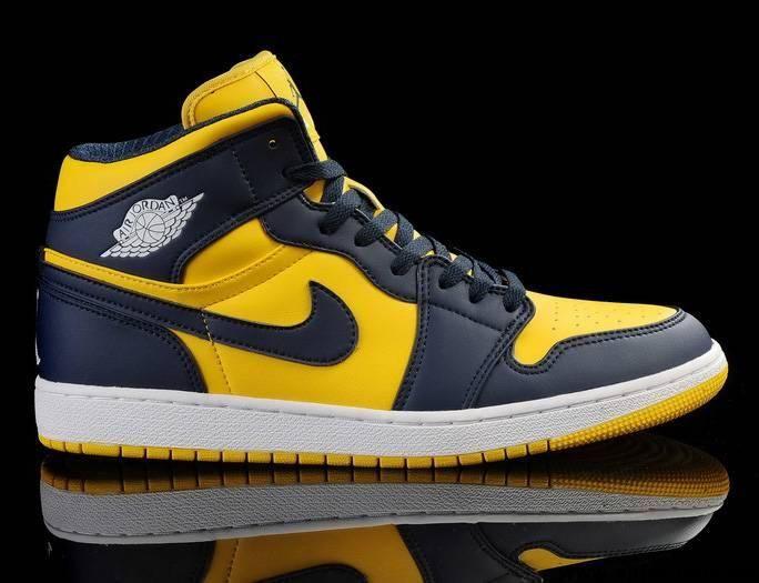 Wholesale Discount Navy-Blue Tour Yellow Shoes Air Jordan 1 Fashion Shoes  Shop 203f49603