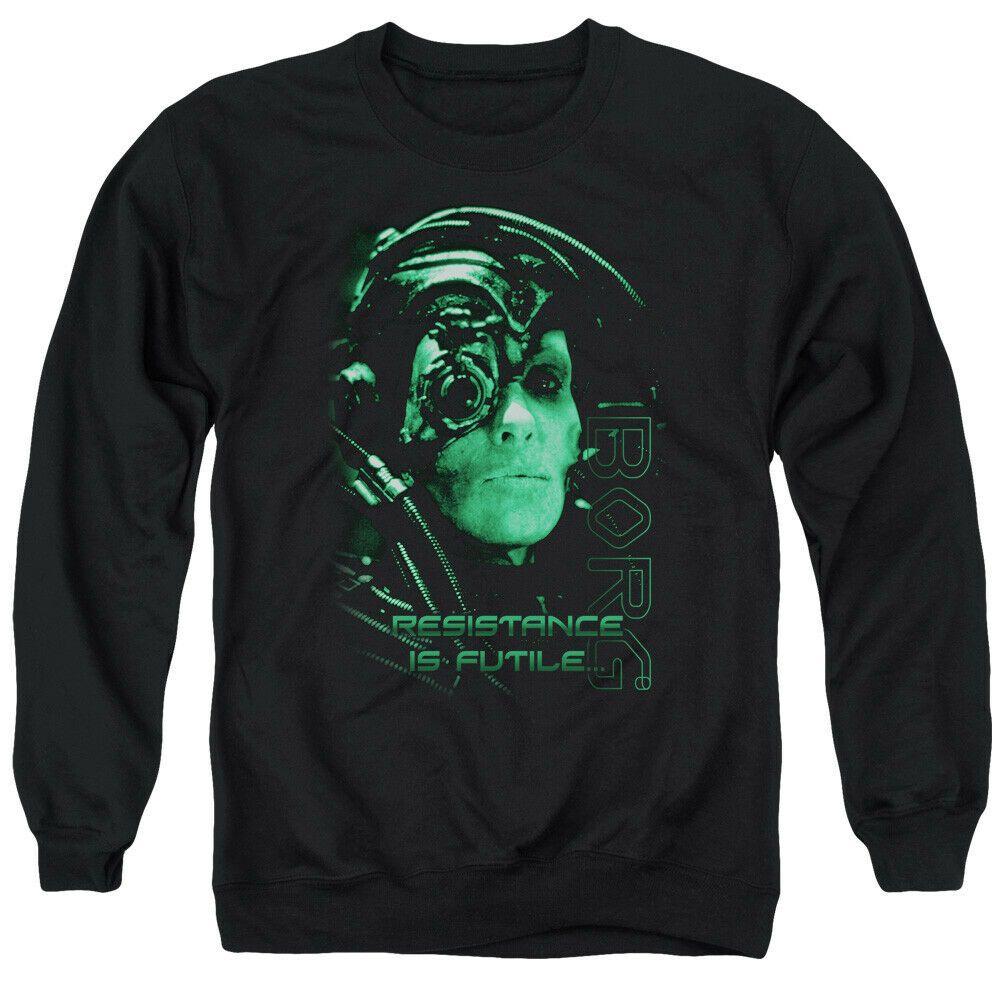 Resistance Is Futile Adult Crewneck Sweatshirt Star Trek