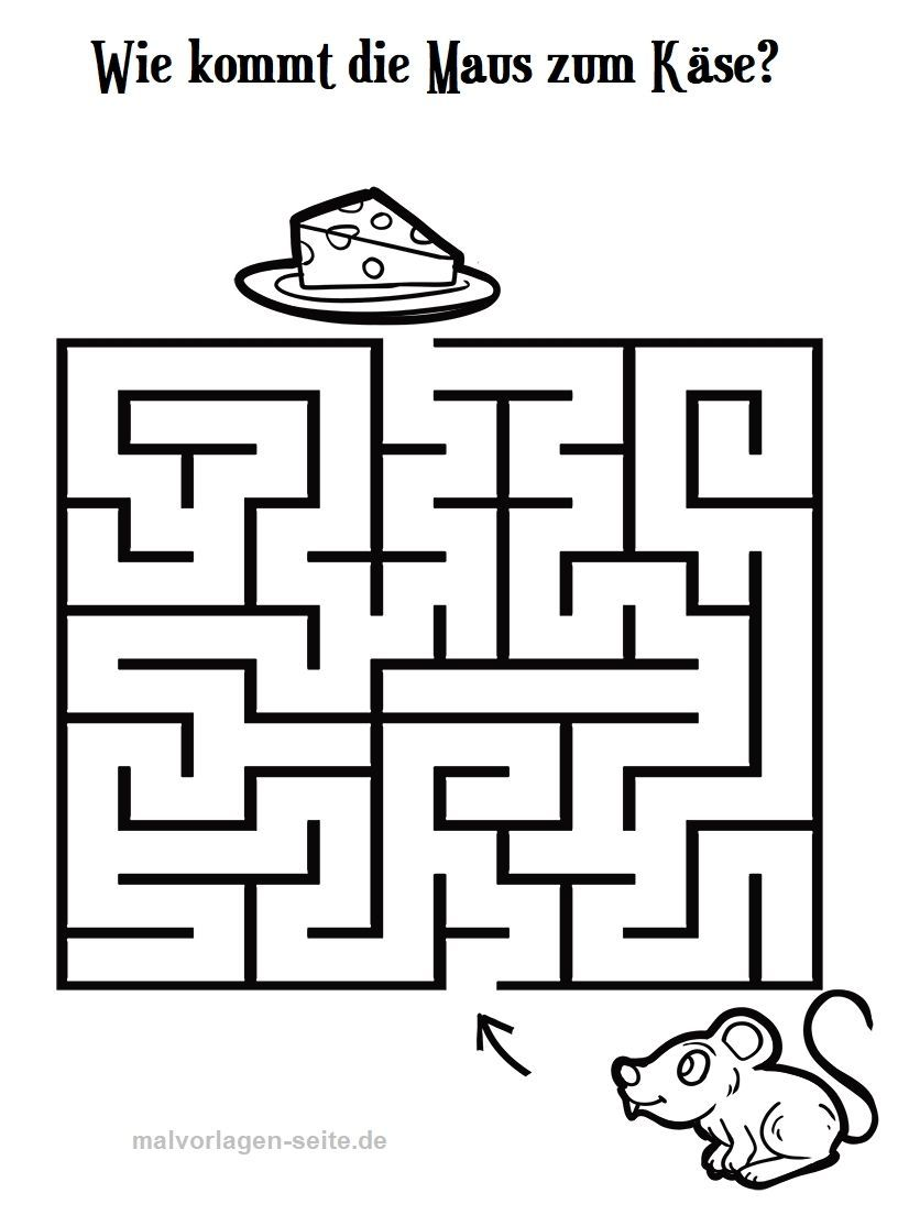 Kinder Malvorlagen Labyrinth in 9  Labyrinthe für kinder