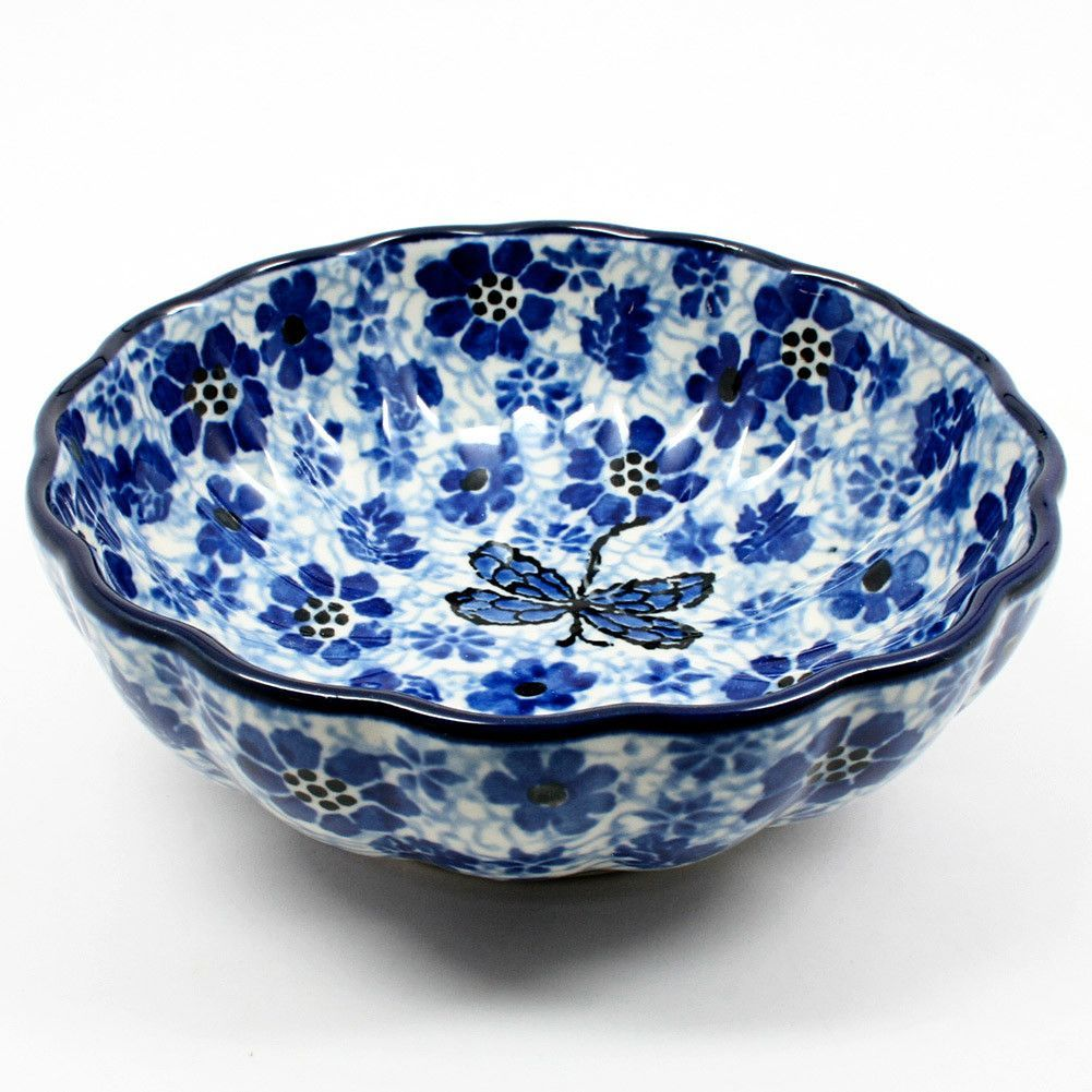 Superbe Small Scalloped Bowl #1443 | Polish Kitchen Online