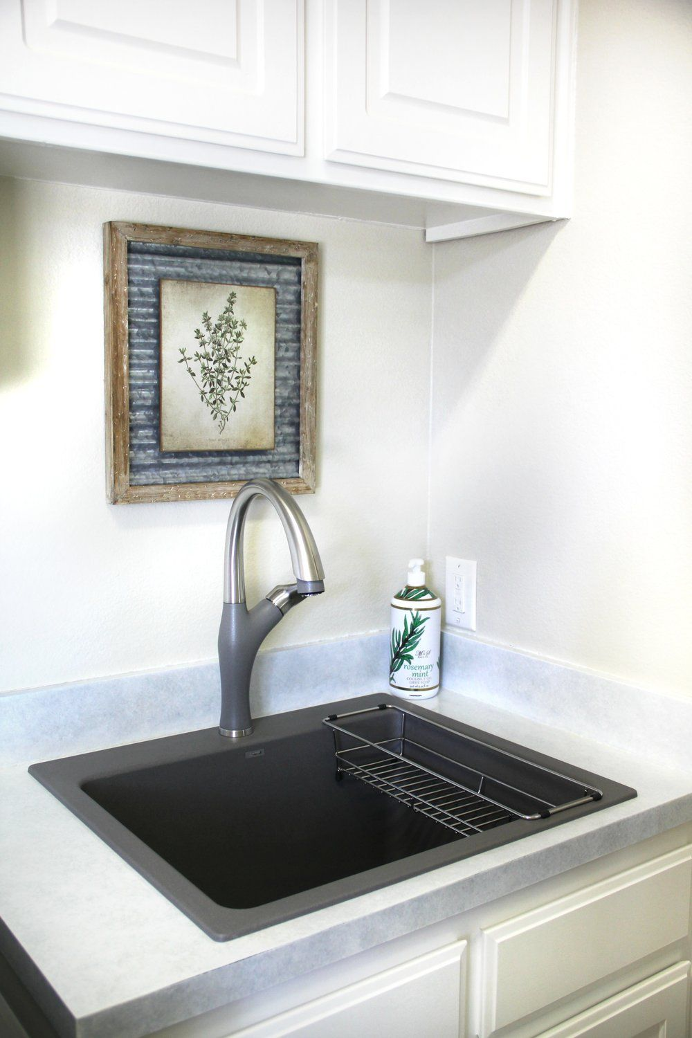Blanco Liven Sink In Metallic Gray Laundry Room Makeover Room