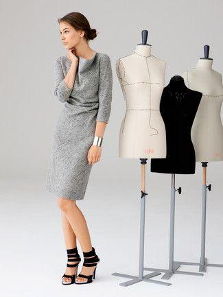 Schnittmuster: Kleid - Wasserfallkragen - burda style 10/2012 ...
