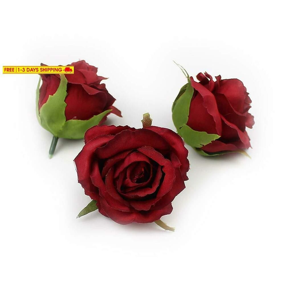 Fake Flower Heads In Bulk Wholesale For Crafts Artificial Rose Flower Head Silk Fashion Home Garden Homedcor Fl Fake Flowers Artificial Roses Rose Flower