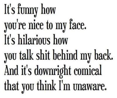 talking behind my back on Tumblr