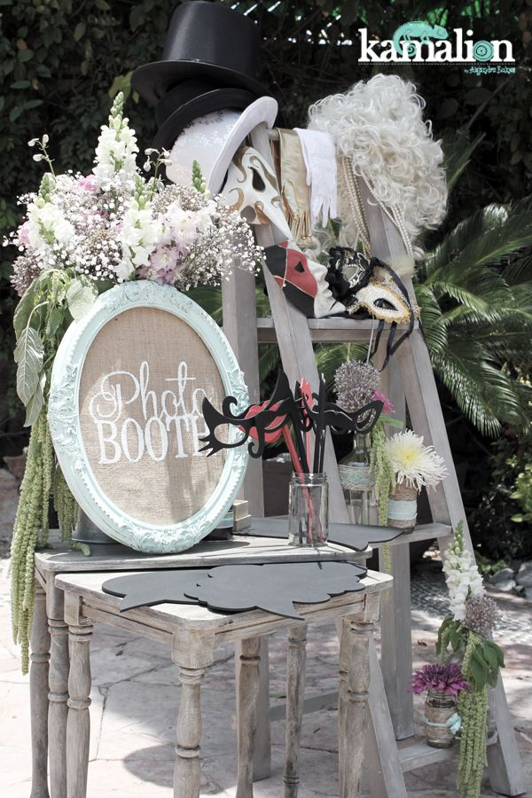 Decoraci n boda photobooth for Decoracion vintage boda