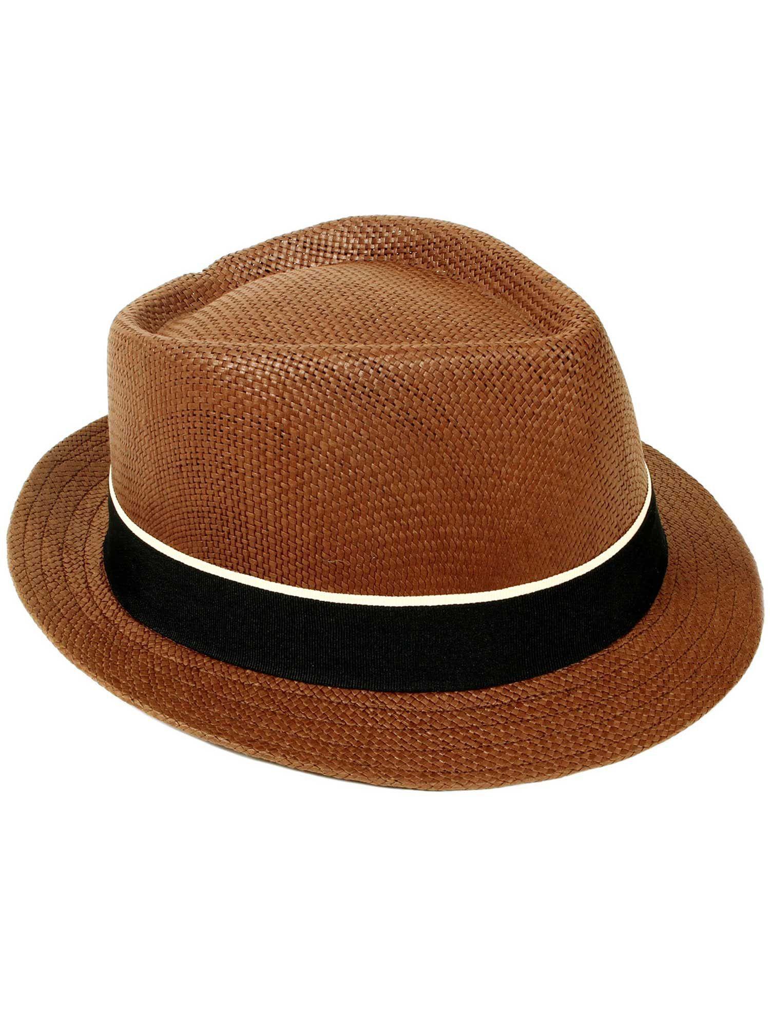 Straw Fedora Hat w  Belt  acfc7ab6df54
