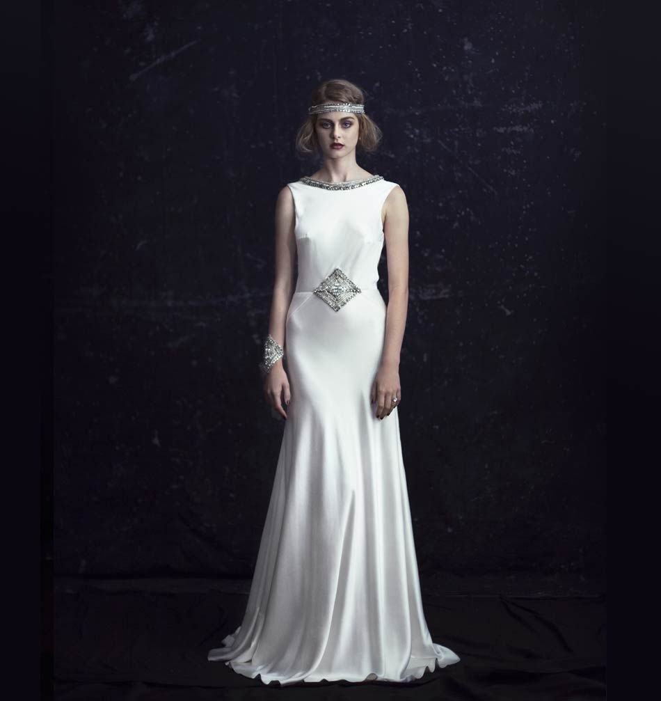 1920's style wedding dresses  The Luxor  Collection from Johanna Johnson  s wedding
