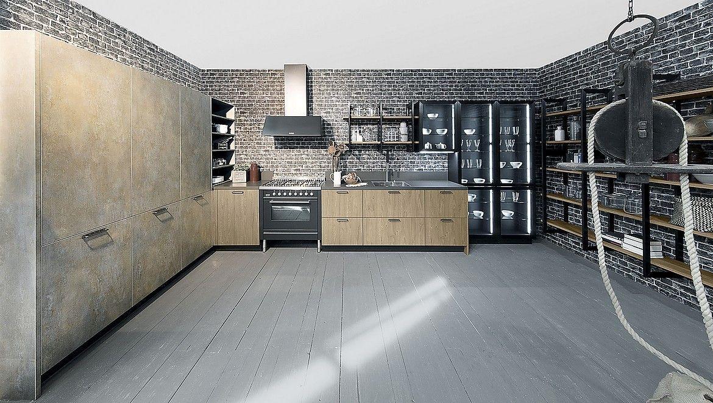 L-Küche Zerox Sherwood Bronx und Iron Goldrush (Rotpunkt Küchen ...