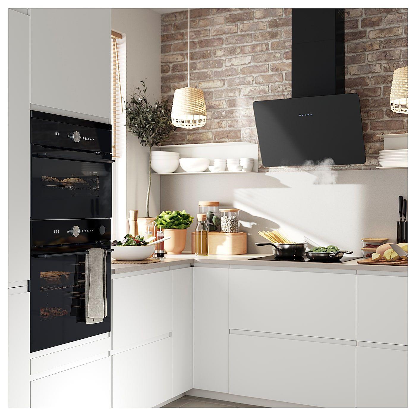 Cucina Bianca E Nera Ikea finsmakare cappa da fissare alla parete - nero nel 2020