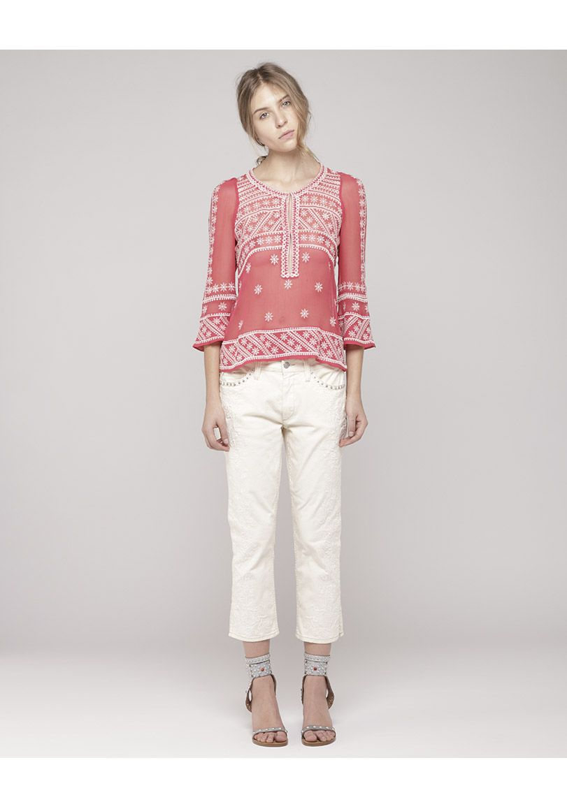 Isabel Marant / Loria Embroidered Top