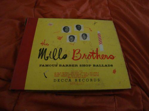 Mills Brothers Famous Barber Shop Ballads Vol. 1 Decca A-476 78 RPM Set (1946)