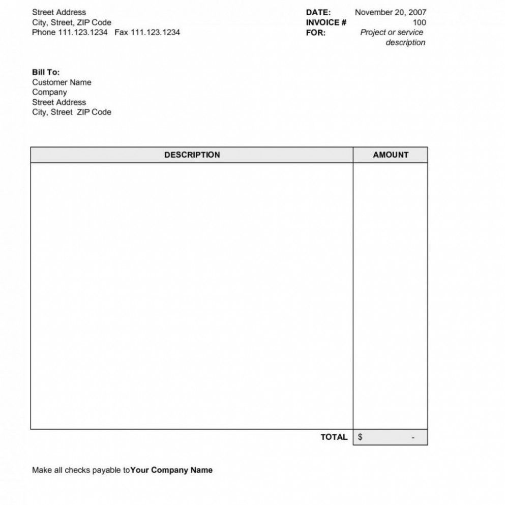 Blank Invoice Template Excel Free Invoice Template Word Invoice Template Cover Page Template