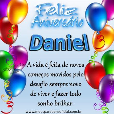 Feliz Aniversario Daniel Em 2020 Feliz Aniversario Mensagem