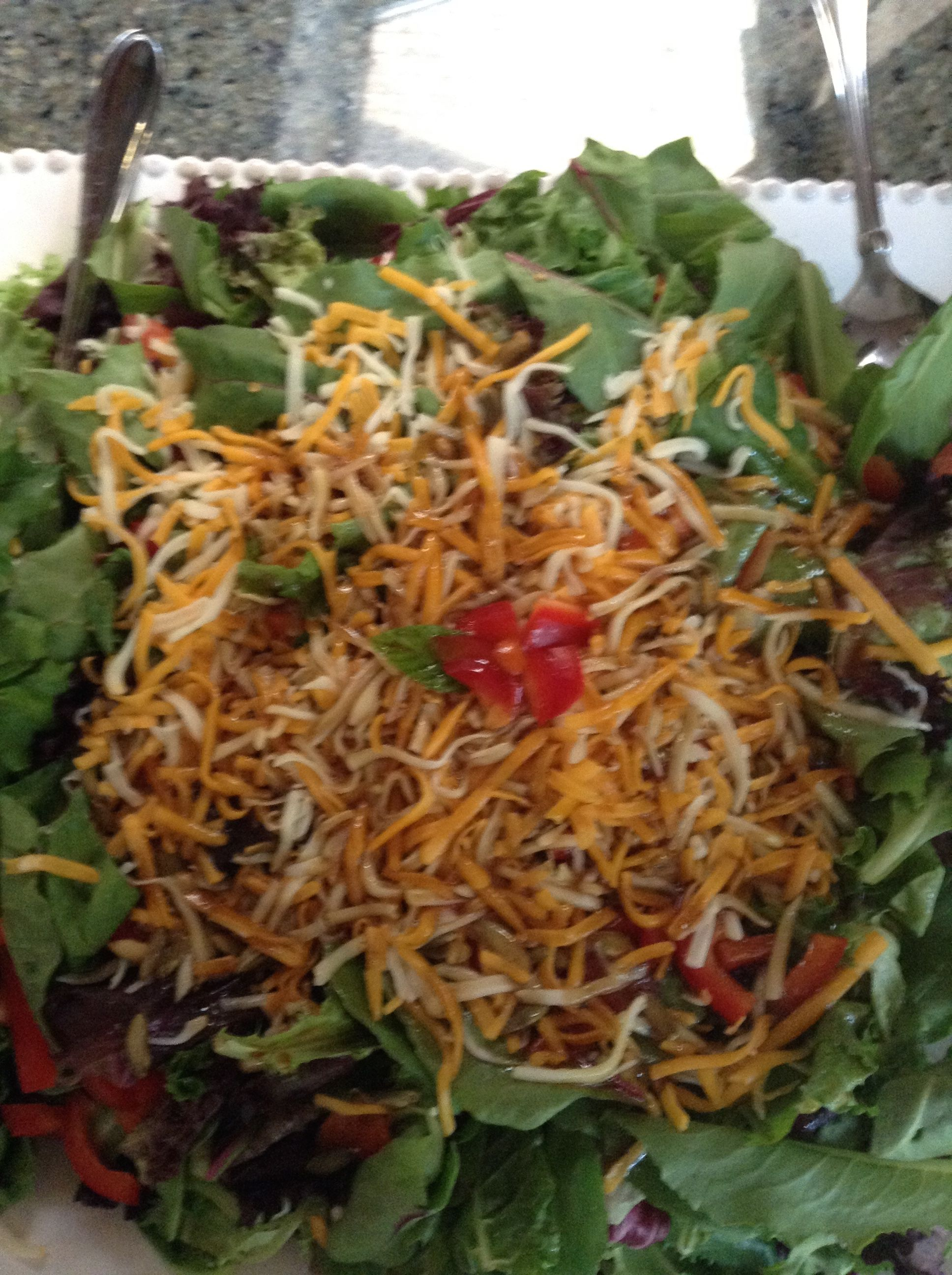 nothing like a nice salad add your own toppings be creative!!!