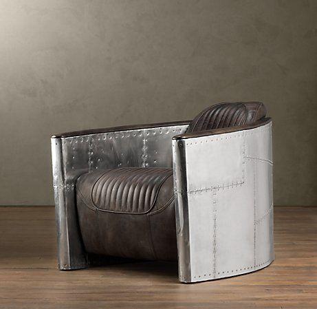 aviator chair from restoration hardware..im thinking living
