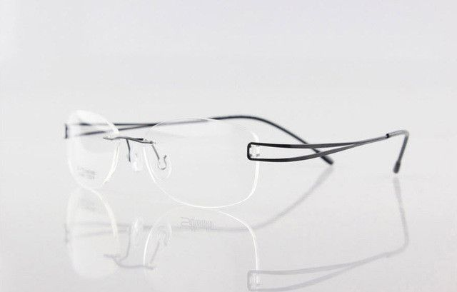 242b7ca8aa59 silhouette rimless titanium glasses non-screw titanium eyeglasses rimless  frame high quality optical for women e1050