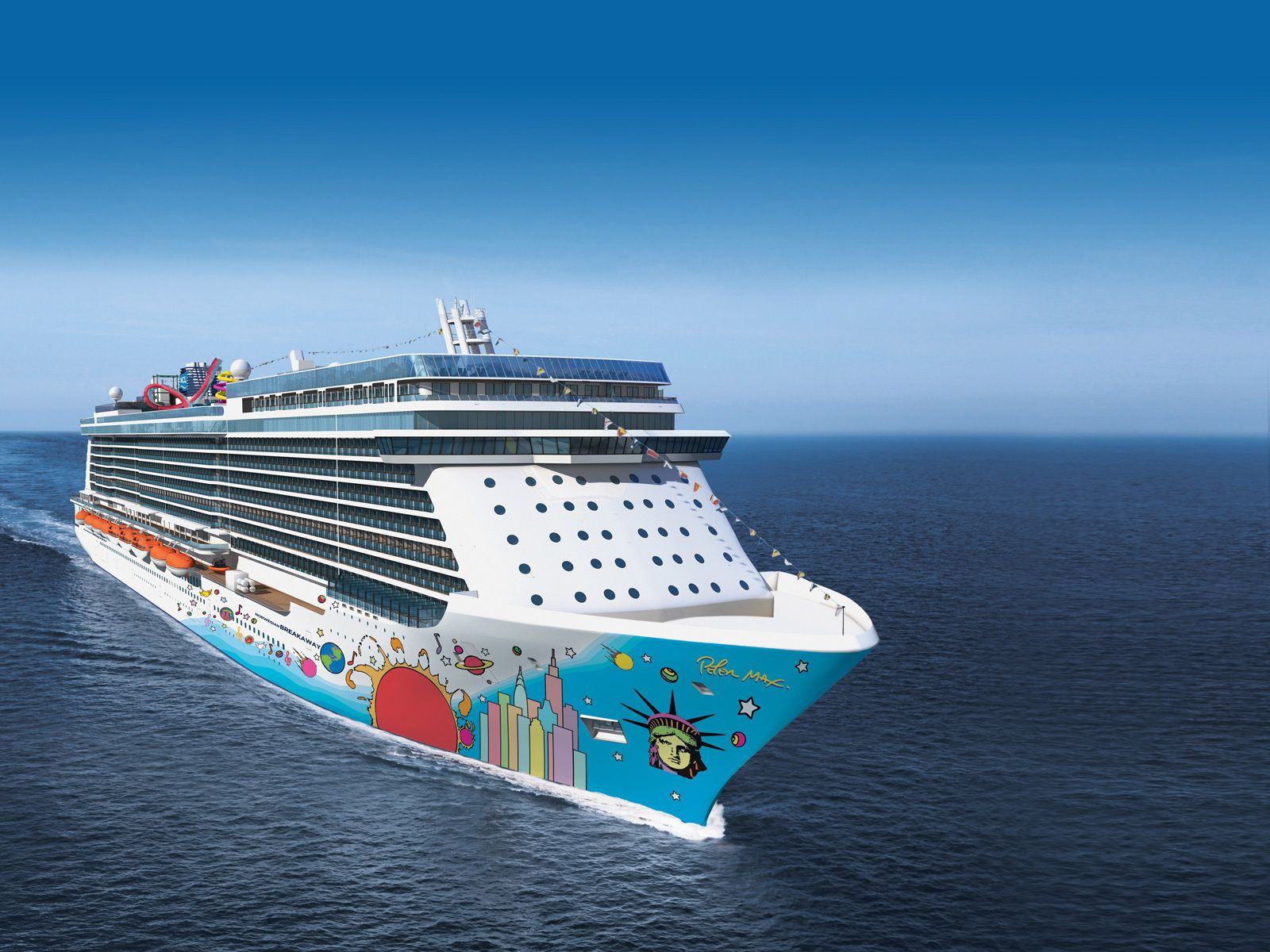 What are some ports on the Norwegian Cruise Lines from Boston to Bermuda?