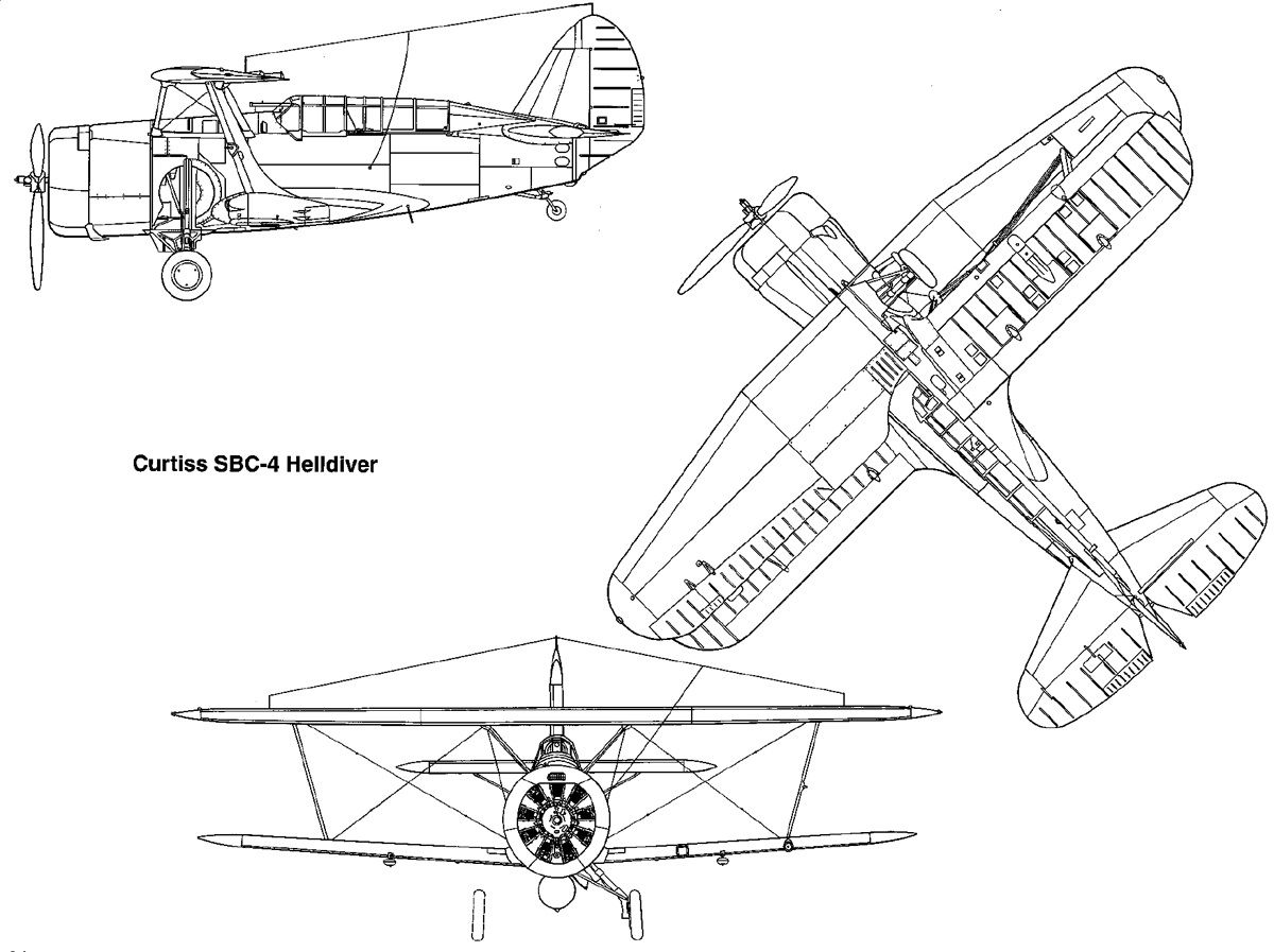 Curtiss Sbc 4 Helldiver The Last Biplane Delivered To The
