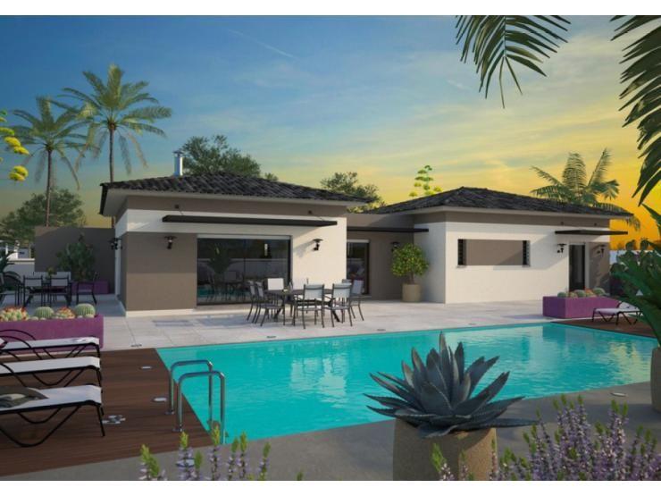 Mod le la villa maison moderne tage de 170m2 avec for Modele villa basse moderne