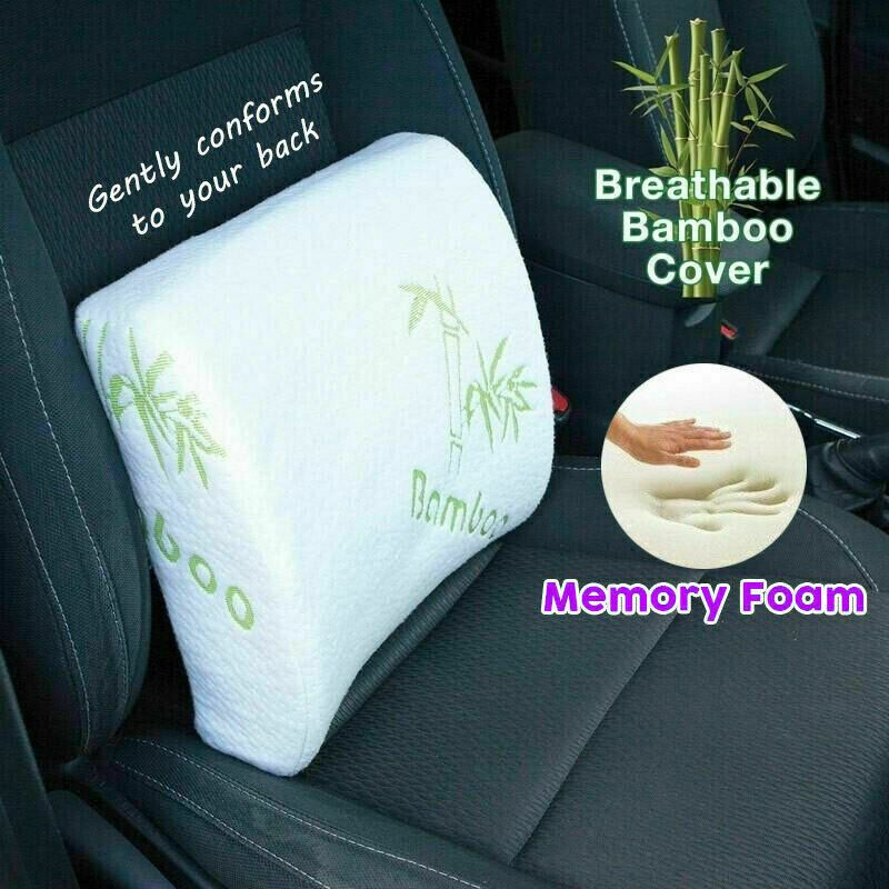 Bamboo Lower Back Support Chair Seat Cushion Posture Corrector