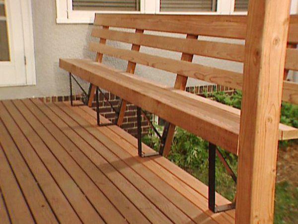 terrassengestaltung diy sitzbank aus holz | Дача | pinterest, Garten und bauen