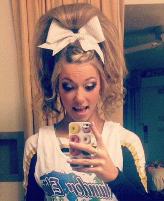 Gorgeous Cheer Hair The C Word Pinterest Cheer Hair