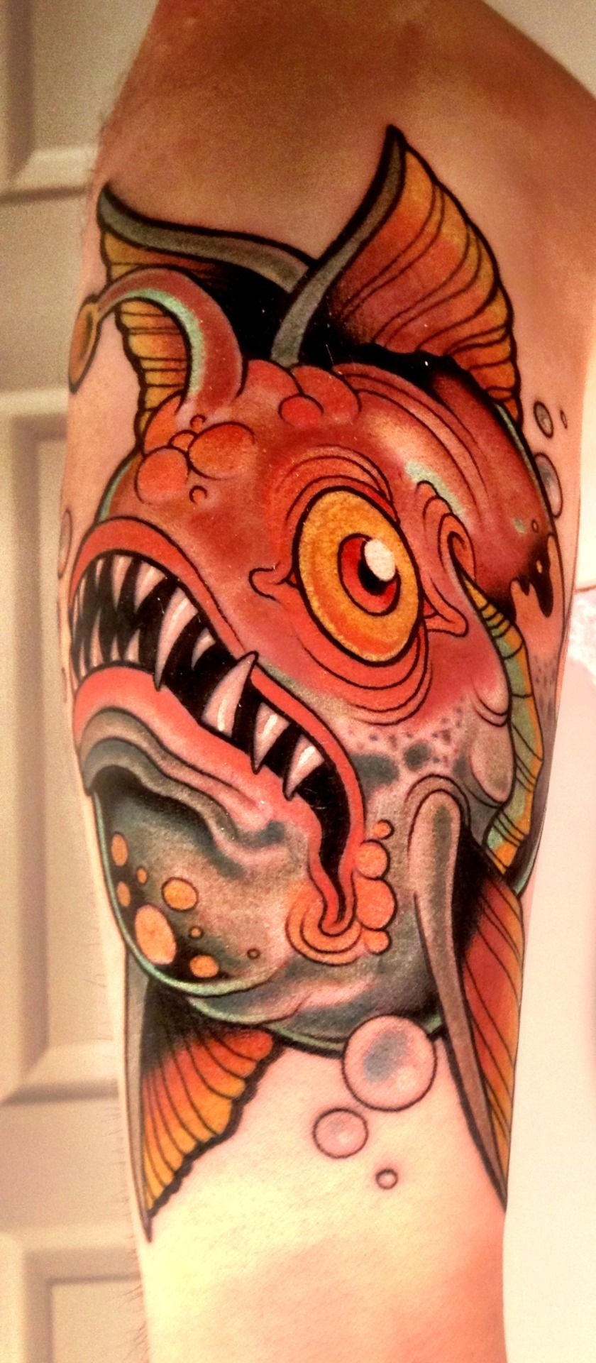 Radical angler fish done by Dave Tevenal in Columbus, OH! black-eye ...