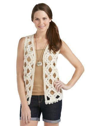 c05c6973a7c Cato Fashions Crochet Vest - Plus  CatoFashions