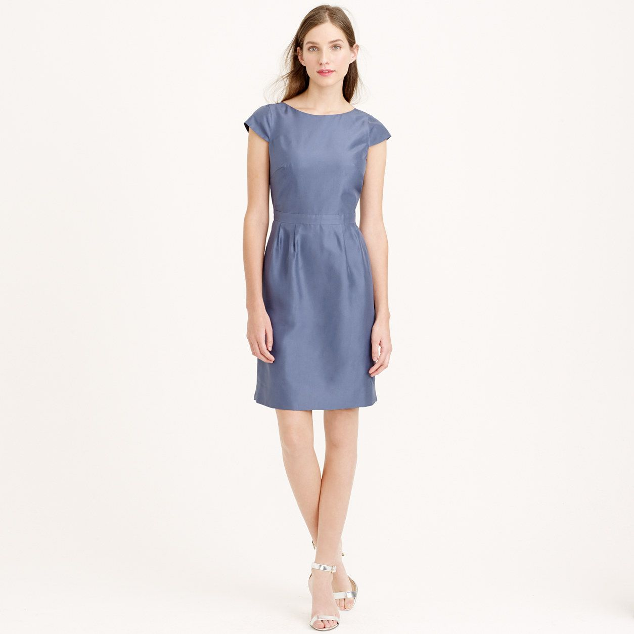 Tessa dress in slub silk : sizes 16 to 20 | J.Crew | Wedding flowers ...