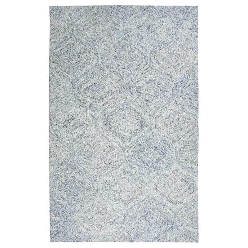 Pershing Geometric Handmade Tufted Wool Blue Area Rug Area Rugs Blue Area Rugs Trellis Rug