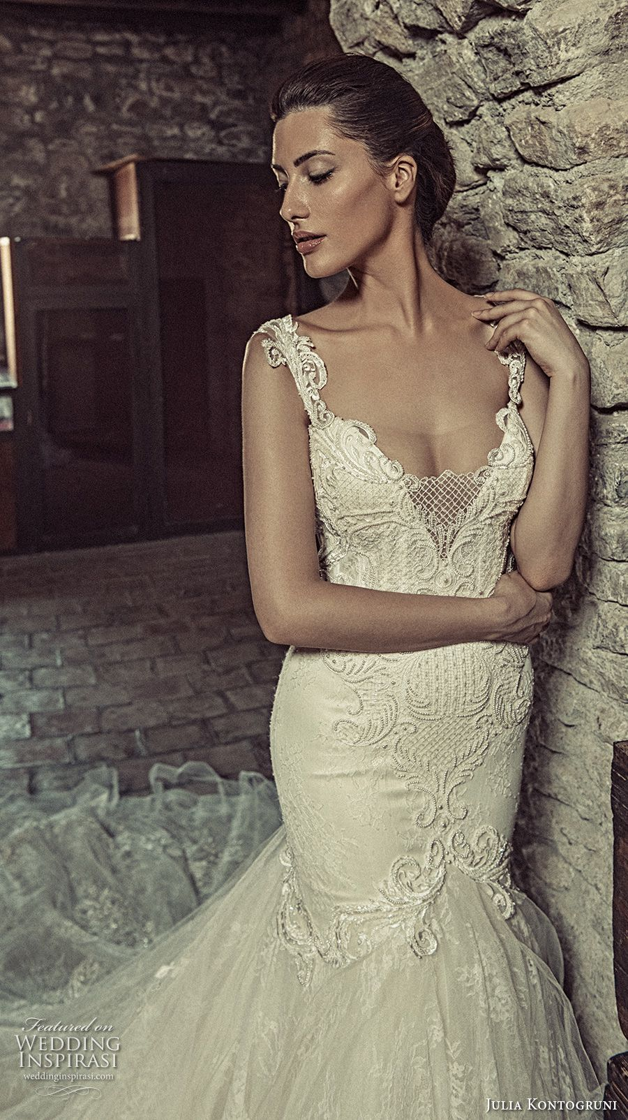 Elegant fitted wedding dresses  Julia Kontogruni  Wedding Dresses  Bodice Wedding dress and