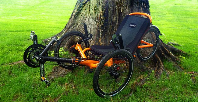 The all new folding catrike trail! This trike is amazing lightweight and easy to fold down and pack up.